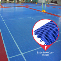 Promotional good quality waterproof mobile badminton court