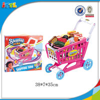 Happy Supermarket Shopping Toy Cart Plastic Baby Supermarket Toy