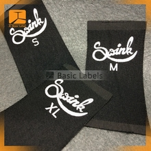 Customized Garment Woven labels / satin size labels / brand labels for clothing