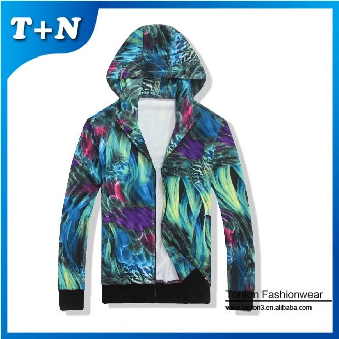 2015 fashion 3d sublimation camo camouflage mens custom hoodie
