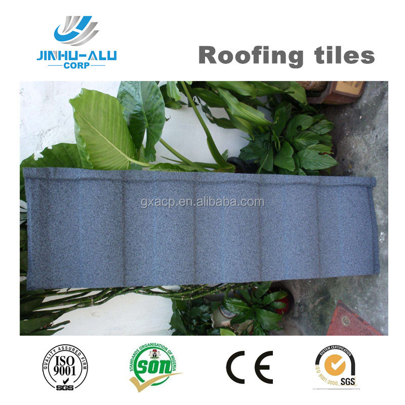 Rainbow type tiles sand coated steel roofing tiles with cheap price