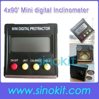 4x90' Mulit function Mini digital Inclinometer / Protractor/level bevel box SRPB120
