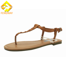 Chinese new designs fancy flat sandals women