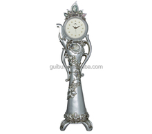 Luxury Seashell Elephant Silver Plated Metal Standing Floor Clock JHF15-8109B