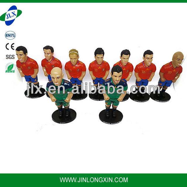 Plastic soccer player figure plastic ball plastic foot ball player