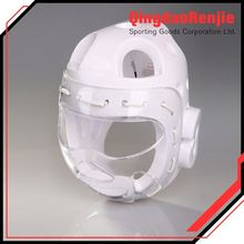 Most Honest Sports Safety White Wkf Karate Body Head Guard Protector With Plastic Mask