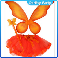 hot sale halloween fairy kids wings sets with wands+tiaras
