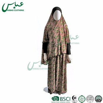 ABBAS brand Wholesale Price 2 pcs Gifts Islamic clothing Girl fashion Muslim Kids Clothing