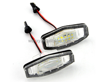 E4-Mark No-error Auto LED license lamp number plate light for Honda Civic VII4/5d