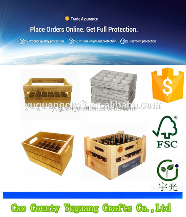 Wholesale natural cheap wooden fruit/vegetable crates for sale for sale
