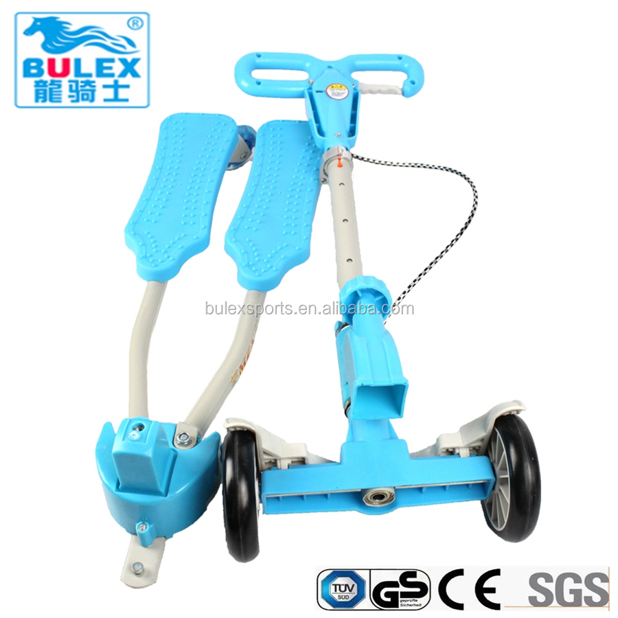 High quality 4 wheels frog kick scooters baby