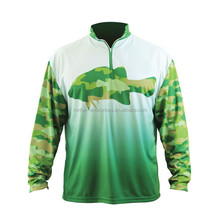 wholesale sublimation dry fit mens long sleeve fishing jersey