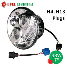 Factory direct sell led lamp type hi low beam 7'' j.eep wrangler headlight for 4x4 offroad