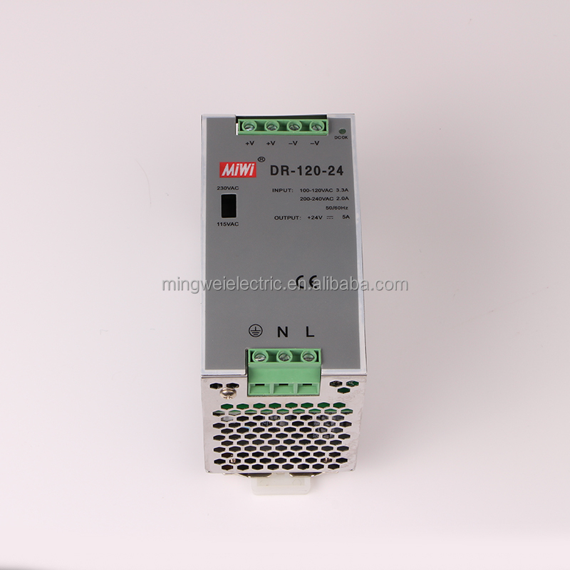 DR-120-12 2 years warranty din rail 120w dc 12v 10a power supply