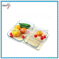 High Quality Glass Food Portable Cheese Storage Containers