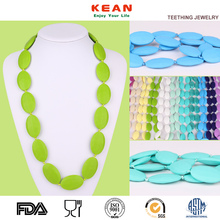 China Manufacturer BPA Free Food Grade Silicone Beads Jewelry Baby Teething Necklace Wholesale