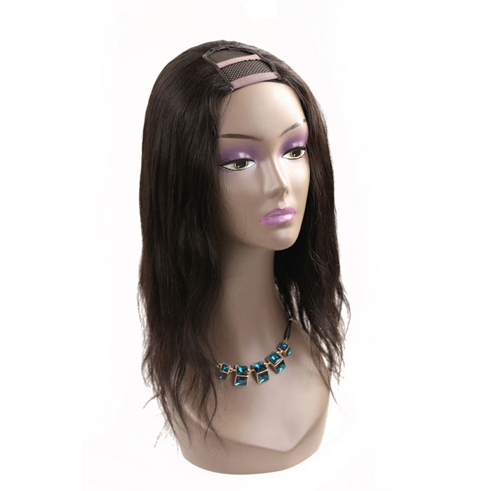Natural Black Human Hair U Part Wigs With Natural Hairline No Shedding