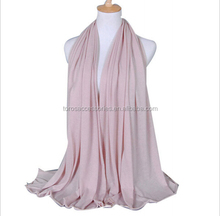 Wholesale Muslim Instant Shawl Hijab Women Head Wrap Solid Color Scarf