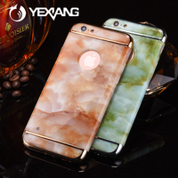 2017 new fashion 3 in 1 marble printed waterproof mobile cell phone case for iPhone 6/7 plus