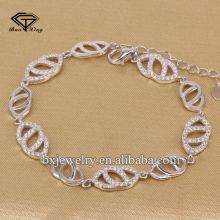 Manufacturer China ladies fancy items fine sterling silver bracelet