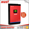High efficieny micro solar inverter 24v 48v to 220v with built in MPPT 60A controller