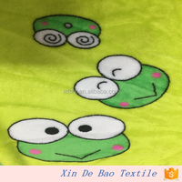 100% Polyester Frog Printed Flannel Fabric for pajama