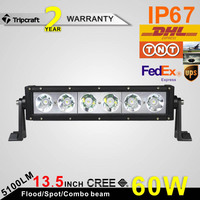13inch IP67 6PCS X 10W CREES Single Row 5100lm 60W CREES LED Working Offroad Driving Light Bar