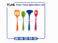 4-piece Kitchen Cooking Utensil Gadget Set- Made of One Piece Silicone. Includes; Ladle, Slotted Turner, Spoon, Pasta Fork