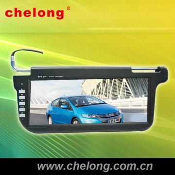 car sun visor LCD monitor car headrest monitor with hdmi input coach dvd player