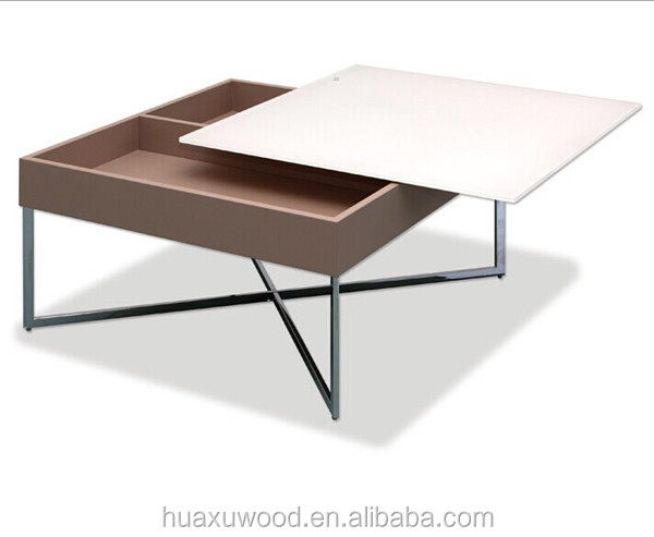 HX-MZ172 steel wood general use box style coffee table