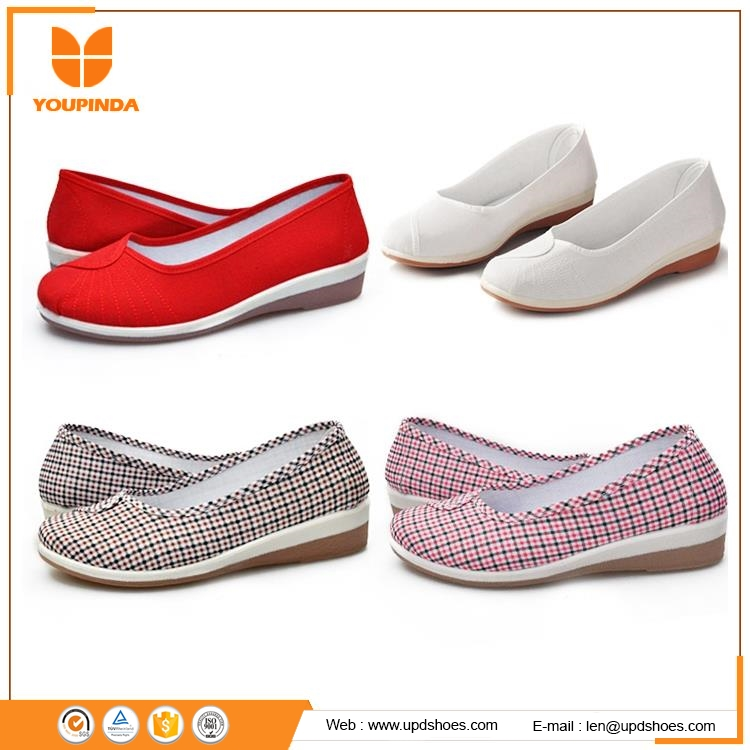 Latest online shopping ladies shoes fashion women shoes flat comfort round toe hospital nurse shoes