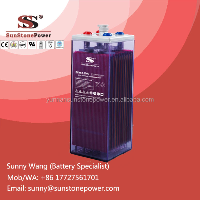 2V 800AH Deep Cycle Tubular Plate Solar Panel Batteries Flooded Lead Acid OPzS battery