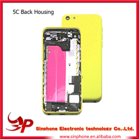 High quality original parts full assembly For iphone 5C back cover housing replacement with all the snall parts