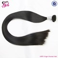 10A grade indian straight human hair bundles natural black color