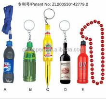 School supplies set mini 3D print bottle ball pen lanyard pen