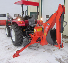 luzhong 45HP 4WD Farm Tractor With GX-710 model Backhoe loader