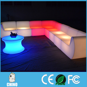 Best selling Outdoor led lighting led furniture plastic sofa chair