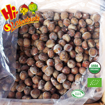 Quick Freezing Organic Roasted Chestnuts with Shell