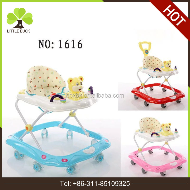 2016 hot sale multifunction round 8 swivel wheels baby walker with toys wholesale