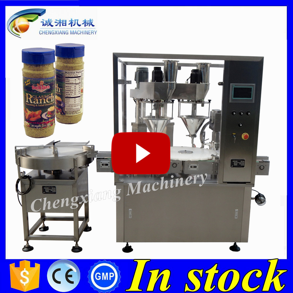 Quality Assurance auto powder bottle filling machine,filling and packing machine for spices