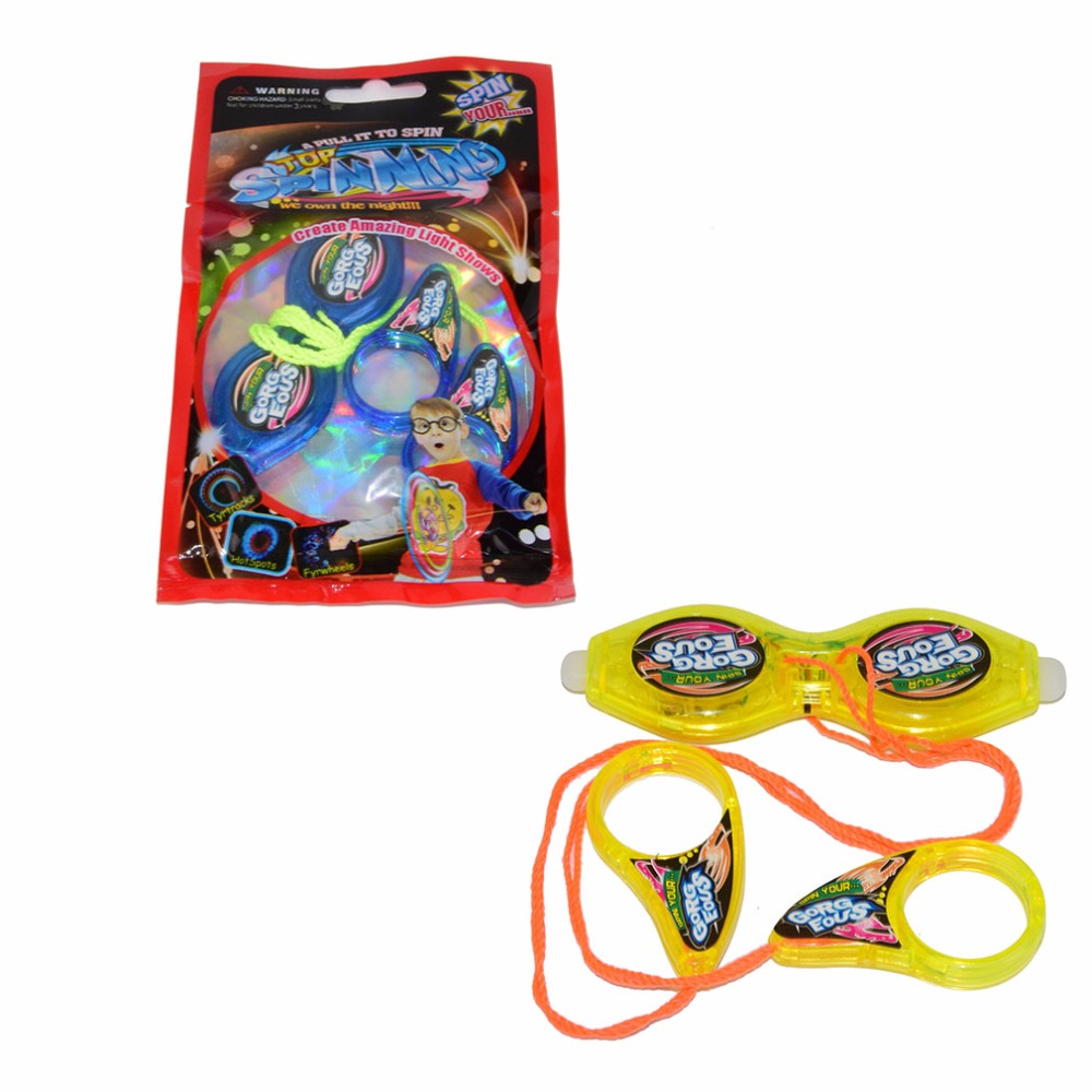 Whistle Pull Sound YOYO Toy Luminous Flywheel Pocket Toy With LED Light