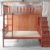 Solid wood bunk bed with stairs bedroom furniture