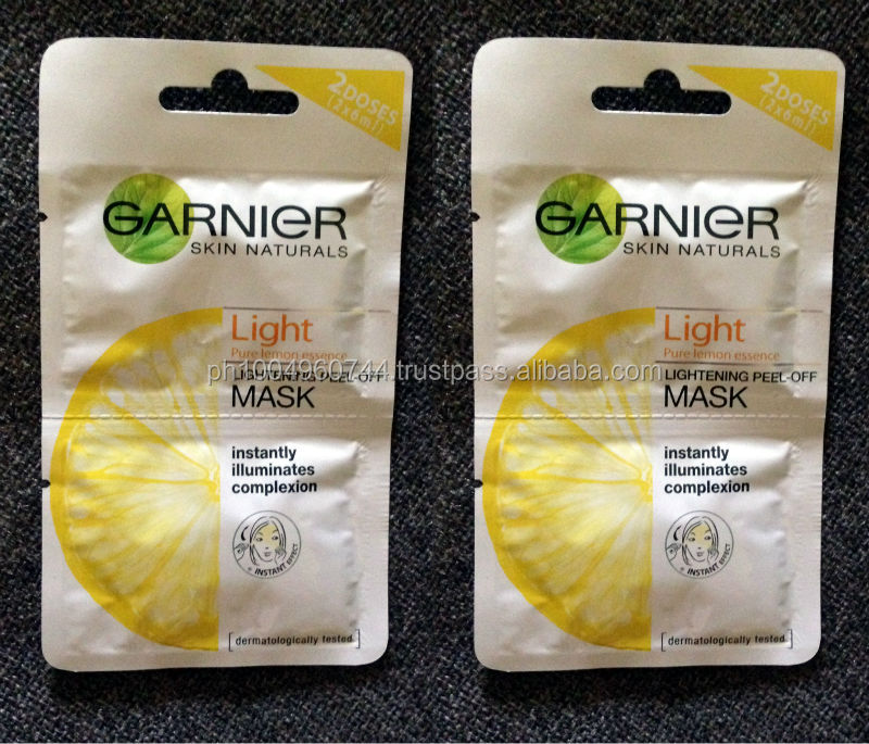 2 Garnier Skin Naturals Light Lemon Lightening Peel Off Mask