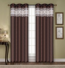 1PC CRUSHED RAIN DESIGN WINDOW CURTAIN WITH 8 GROMMETS