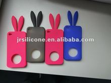 New rabbit ears DIY silicone mobile phone case for apple iphone 4