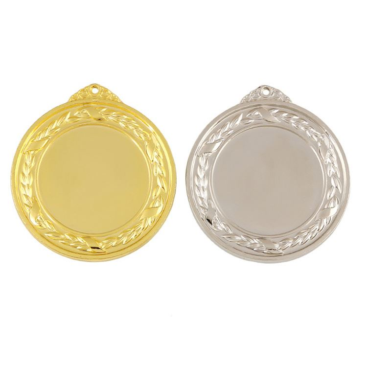 New products special design personalised gold silver metal blank medals