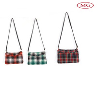 Lattice fabric single shoulder bags ladies clutch purses wholesale from china supplier