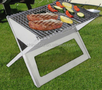 outdoor bbq camping grill portable folding charcoal bbq grill