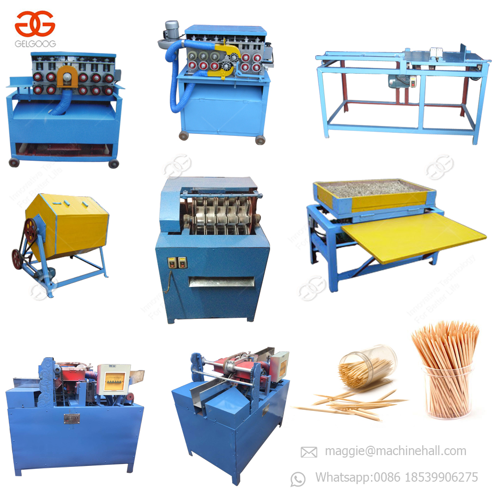 Factory Price Tooth Pick Processing Production Line Tooth Picker Stick Manufacturing Maker Toothpick Making Machine for Sale