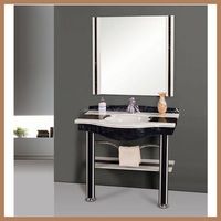 AQUARIUS Natural Oak Wood Bathroom Furniture Illuminate Mirror Wall Cabinet